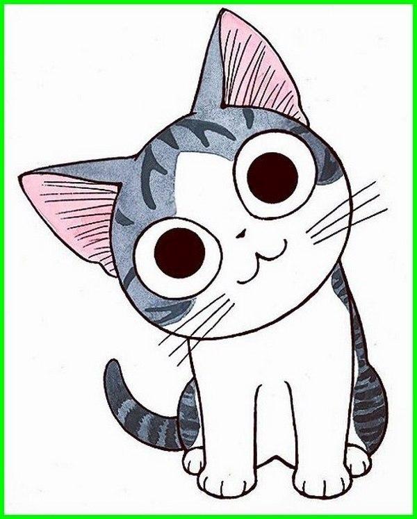Gambar Kucing Kartun Lucu 600x747 Download Hd Wallpaper Wallpapertip