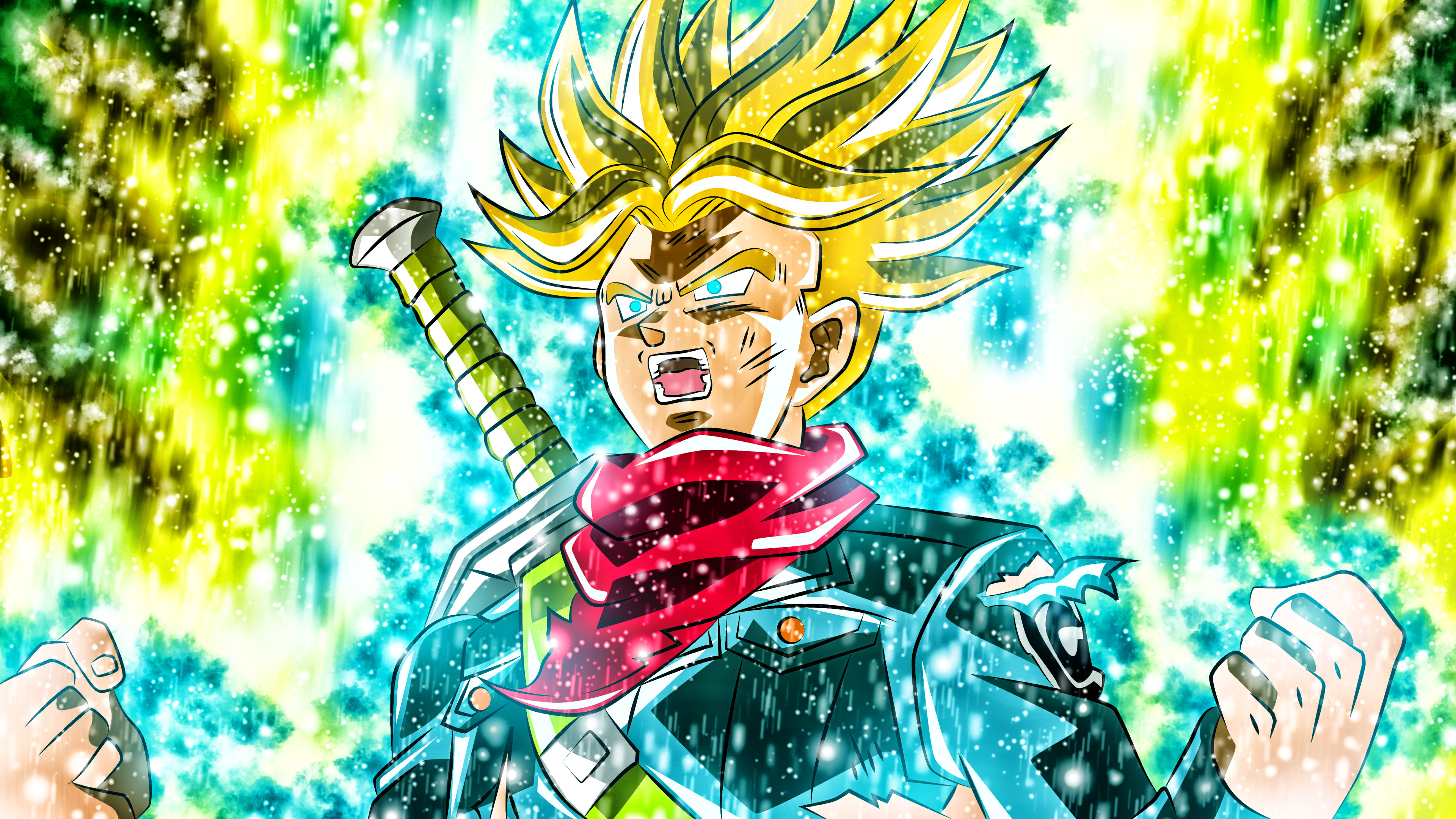 Future Trunks Wallpapers 66 Background Pictures Super Saiyan Rage Trunks 3840x2160 Download Hd Wallpaper Wallpapertip