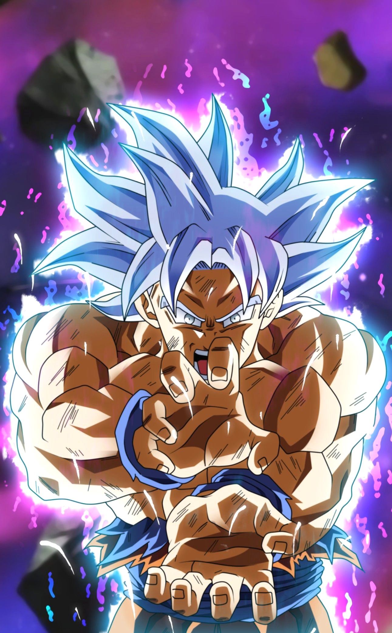 Goku Ultra Instinct Dragon Ball Super Wallpaper Animated Goku Silver Ultra Instinct 1291x2080 Download Hd Wallpaper Wallpapertip