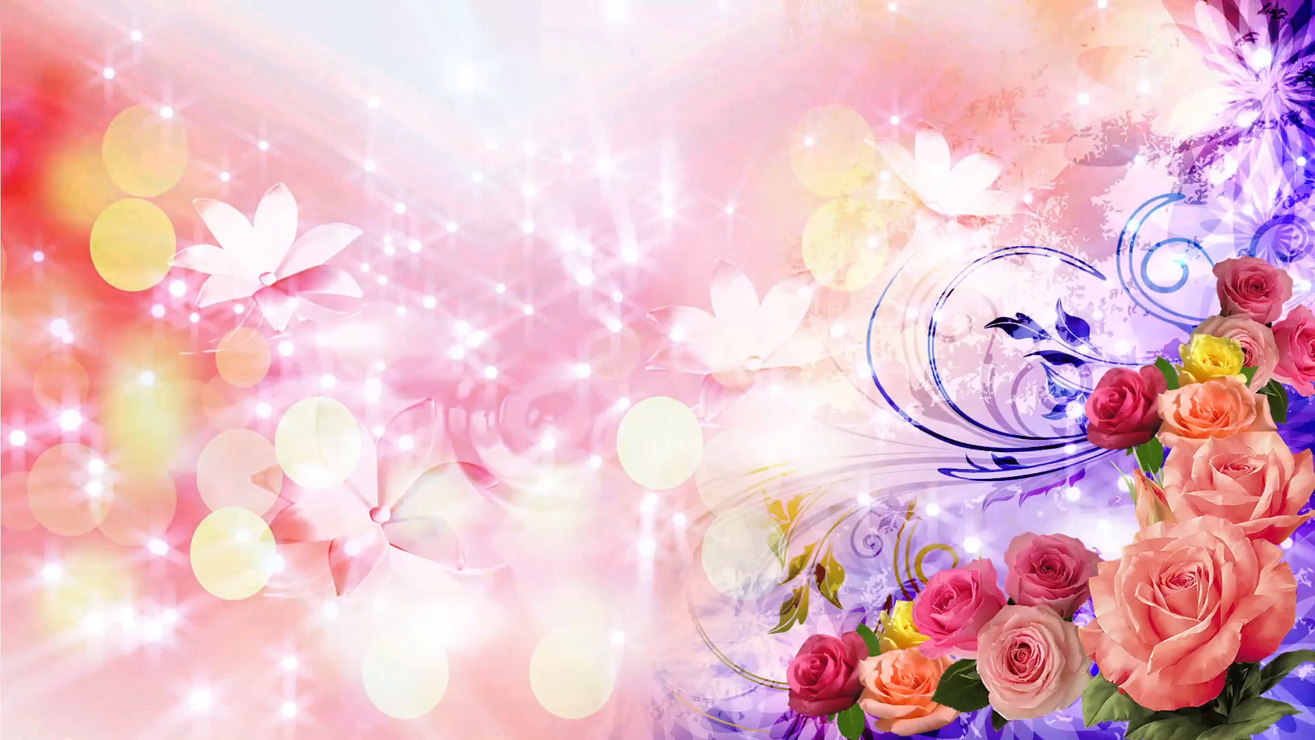 Pink Flowers Marriage Background Hd Png 1920x1080 Download Hd Wallpaper Wallpapertip