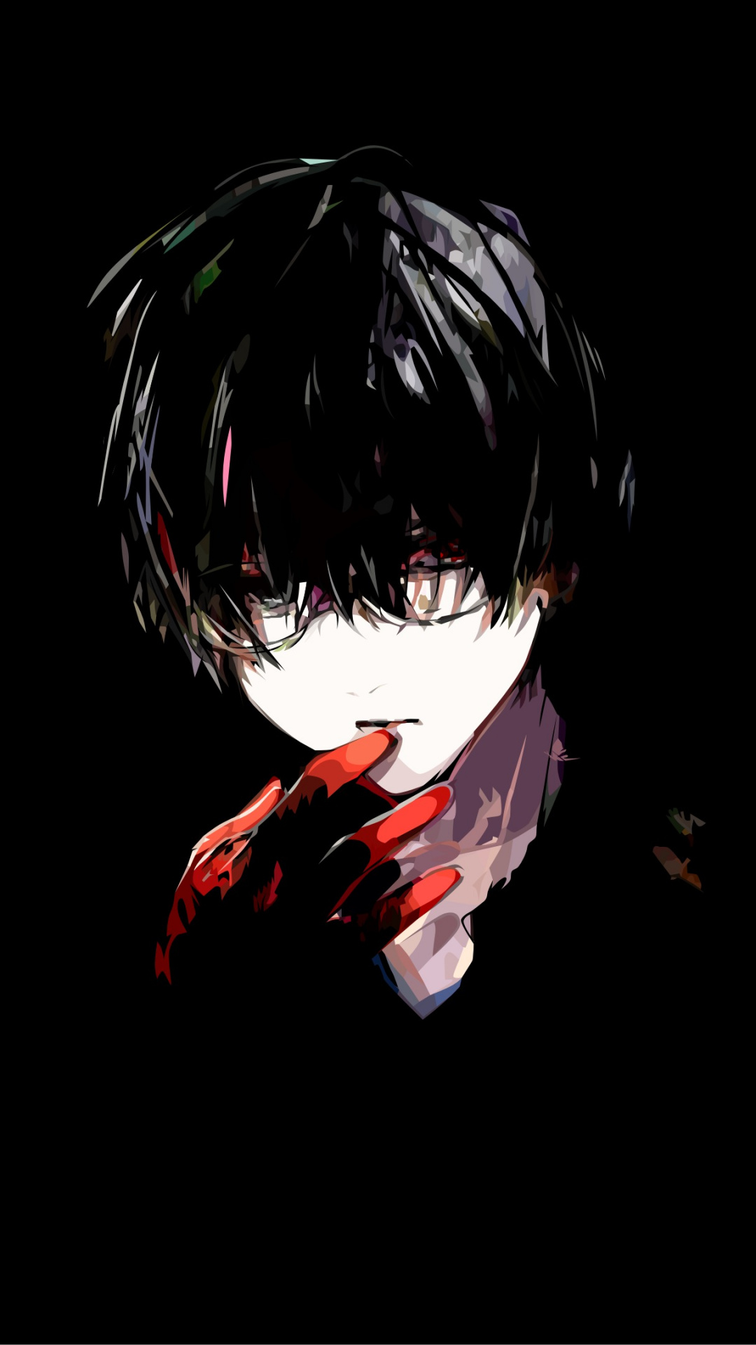 Tokyo Ghoul Anime Black Darkness Fictional Character Boy Sad Walpaper Anime 1080x1920 Download Hd Wallpaper Wallpapertip