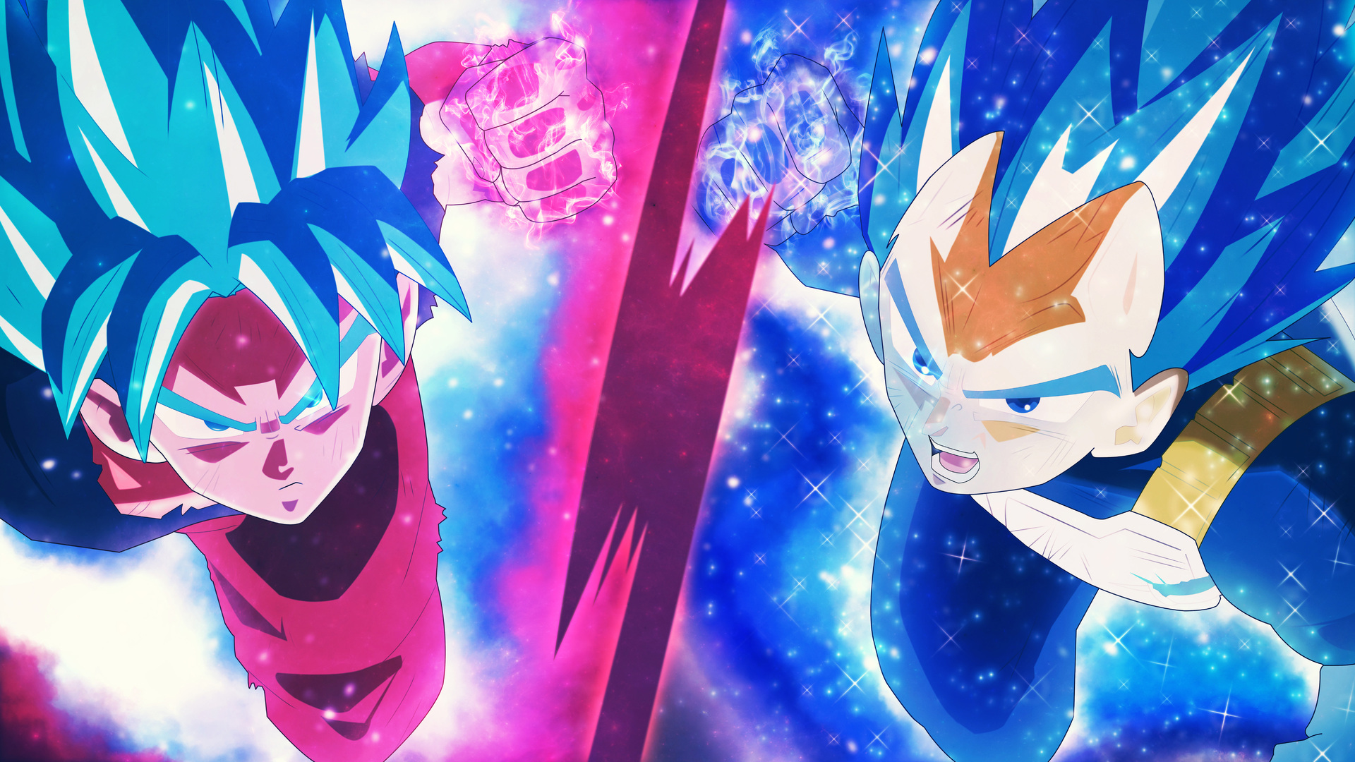 Super Saiyan Blue Goku And Vegeta 1920x1080 Download Hd Wallpaper Wallpapertip