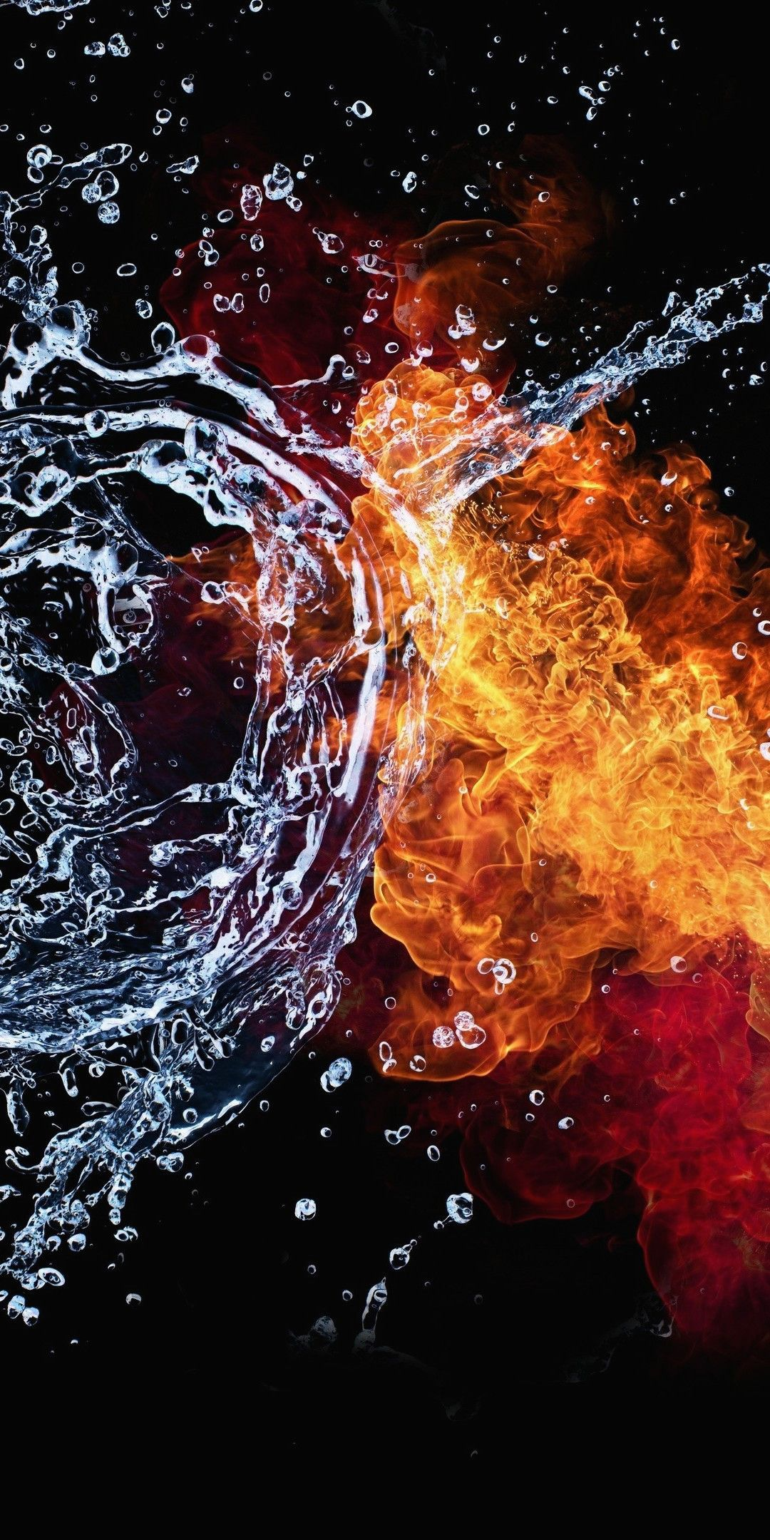 4k Wallpaper Download For Android Mobile Fresh Fire Baptism Of Fire And Water 1080x2160 Download Hd Wallpaper Wallpapertip