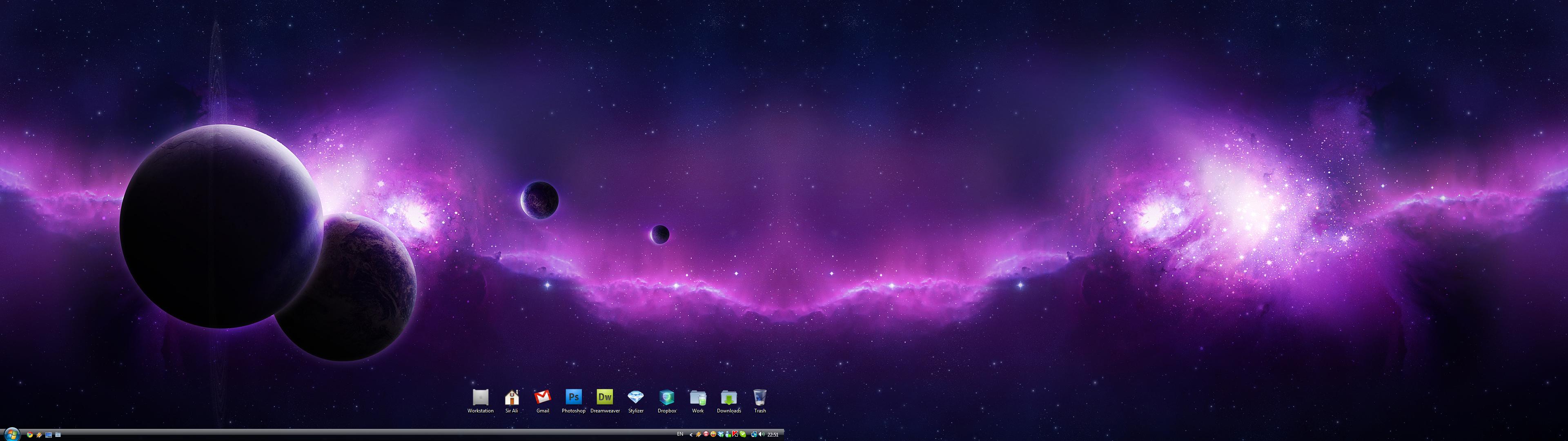 デュアルモニター壁紙紫 デュアルモニター壁紙窓7 3840x1080 3840x1080 Wallpapertip