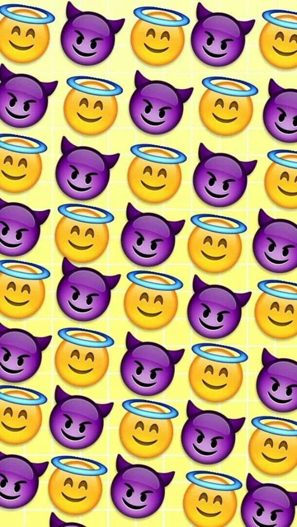 Iphone Diable Et Ange Emoji Emoji Faces Fond D Ecran 481x862 Wallpapertip