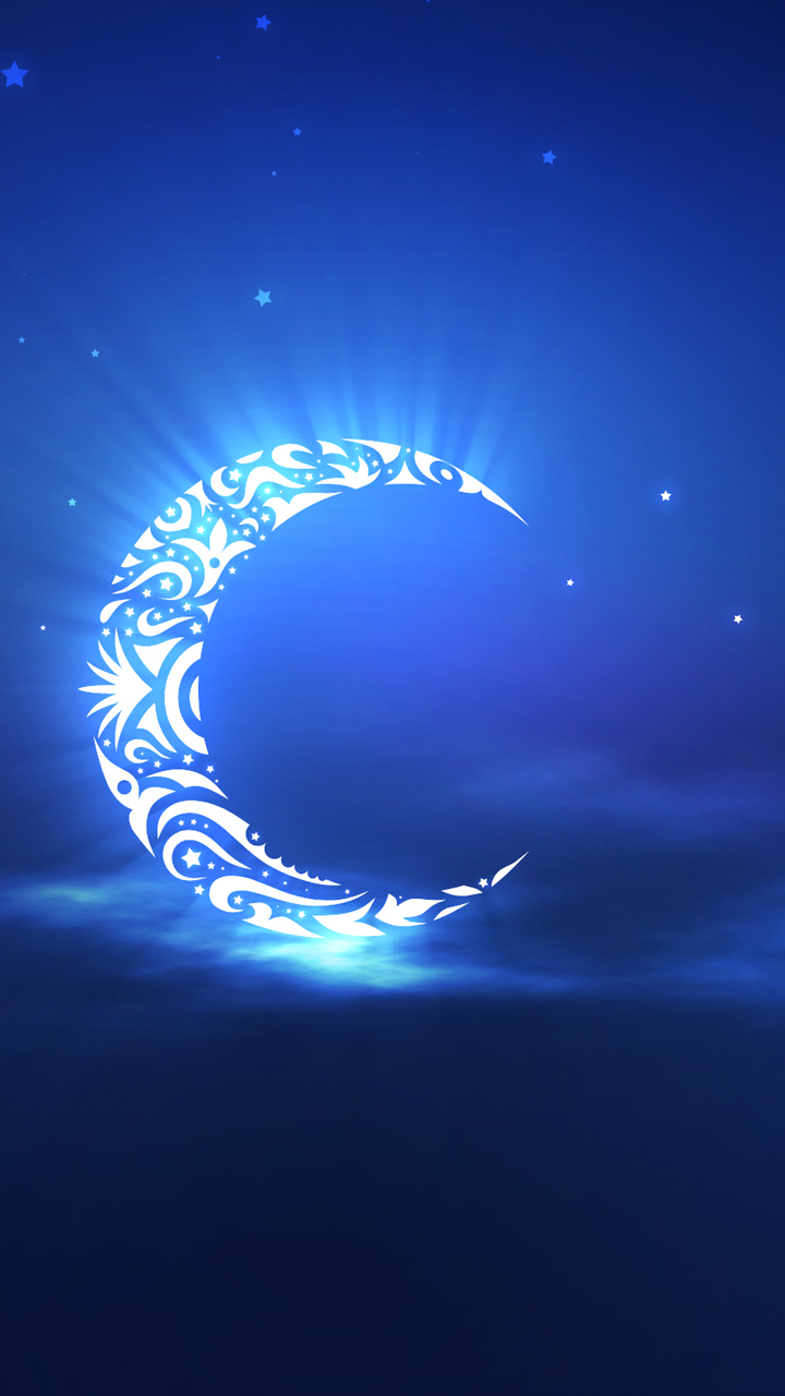 Samsung Galaxy J3 Wallpapers Crescent Moon Blue And White 720x1280 Download Hd Wallpaper Wallpapertip