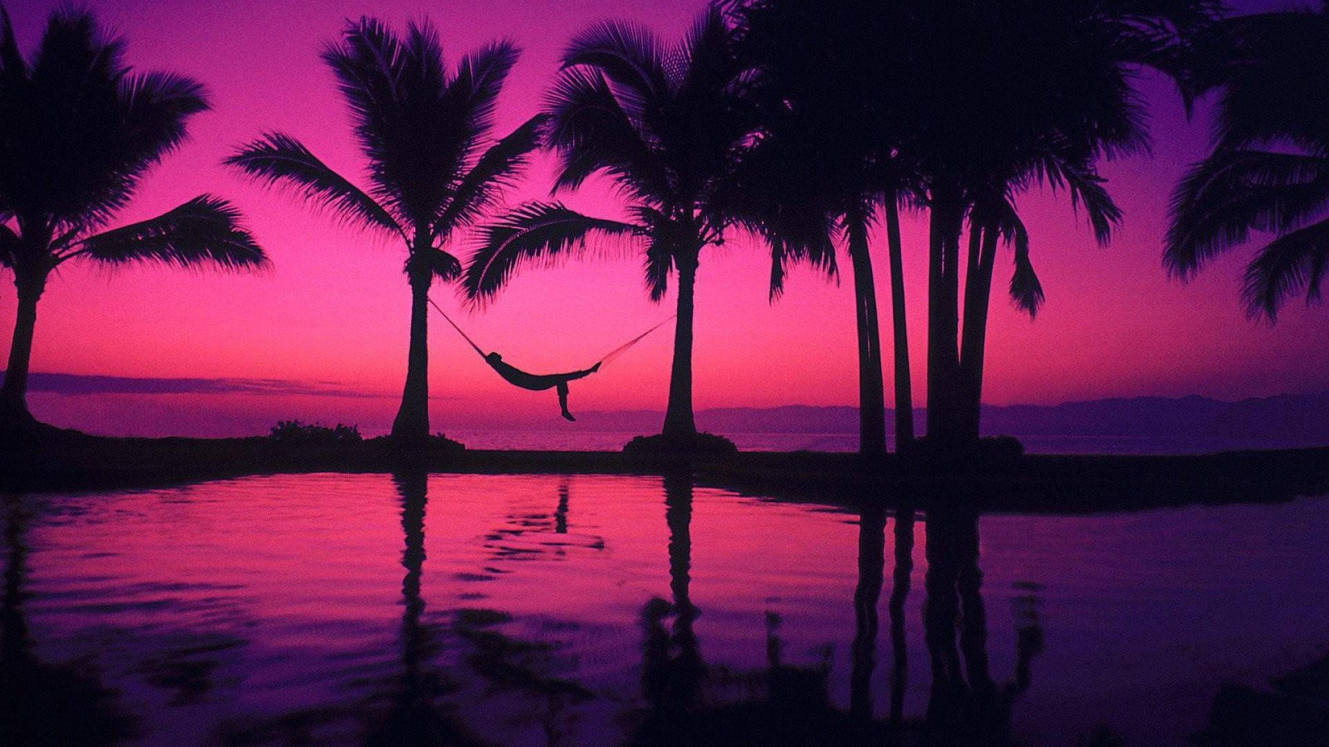 ピンクと紫の夕日を背景 壁紙ビクトリアシークレット 19x1080 Wallpapertip
