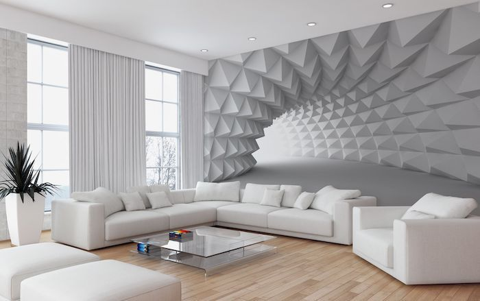 Wooden Floor Blue Accent Wall White Tunnel 3d Wallpaper White Accent Wall Ideas 700x439 Download Hd Wallpaper Wallpapertip