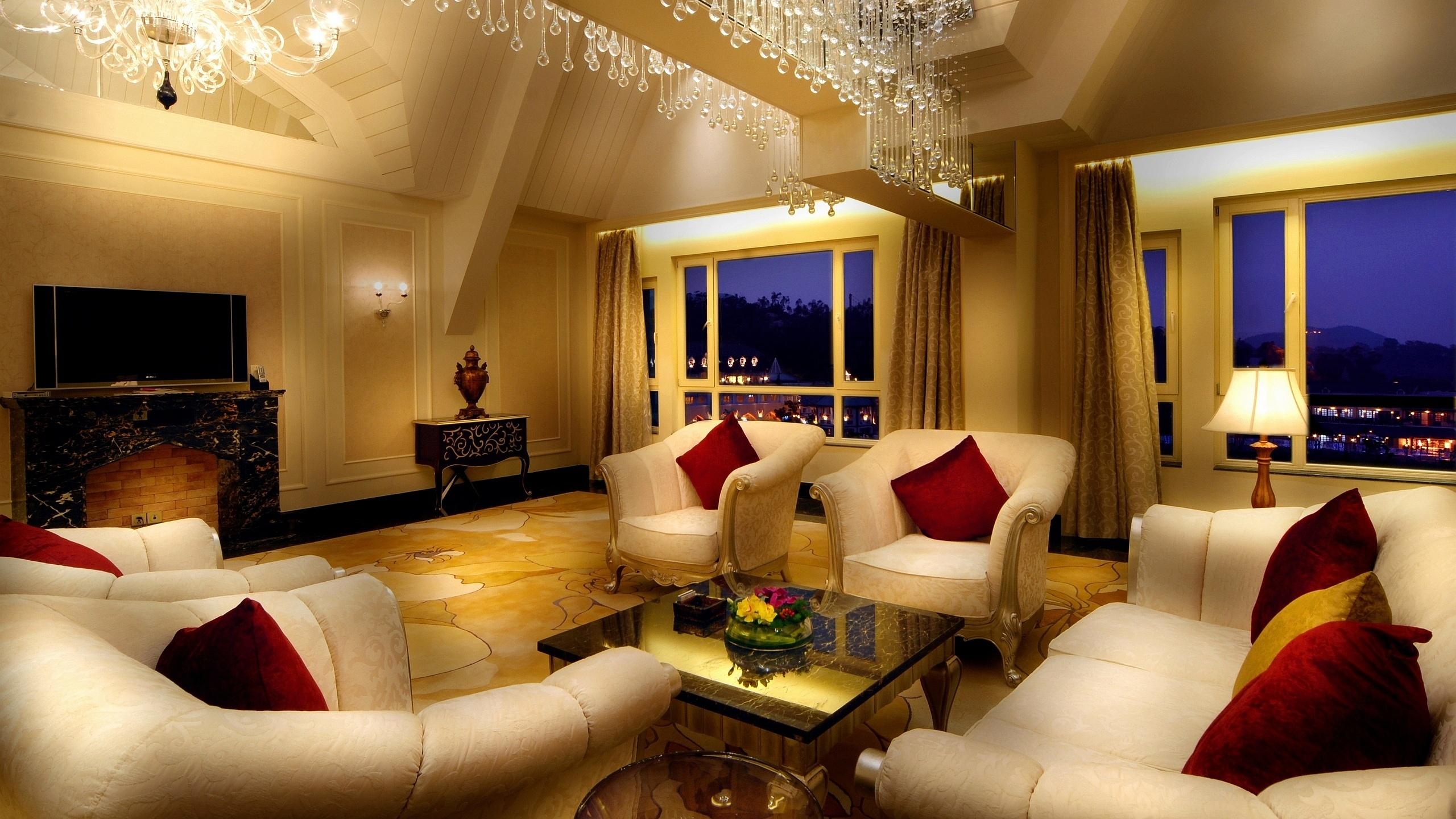 Luxury Room Wallpaper Hd 2560x1440 Download Hd Wallpaper Wallpapertip