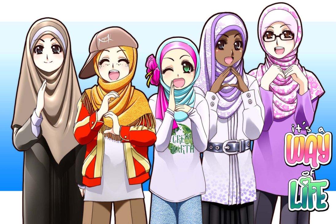 Wallpaper Kartun Muslimah Love Islam Anime 1095x730 Download Hd Wallpaper Wallpapertip