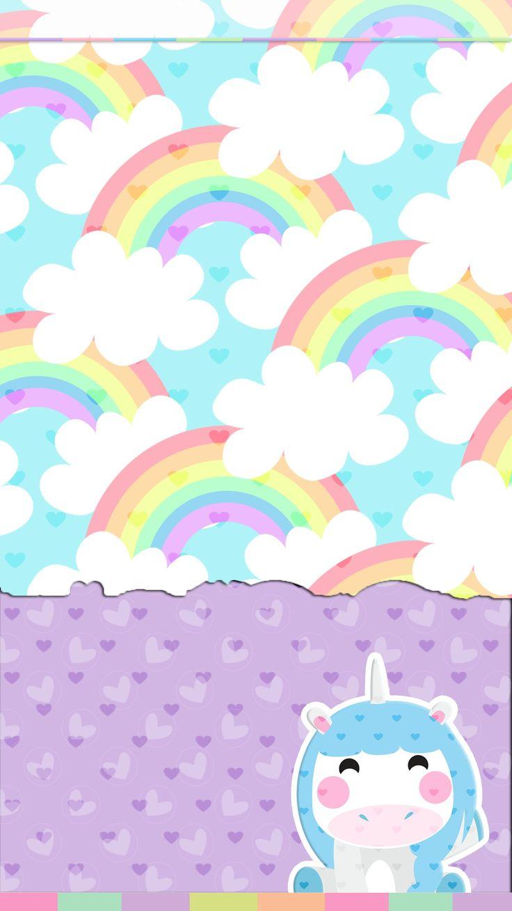 レインボー壁紙かわいい Unicornios壁紙 736x1308 Wallpapertip