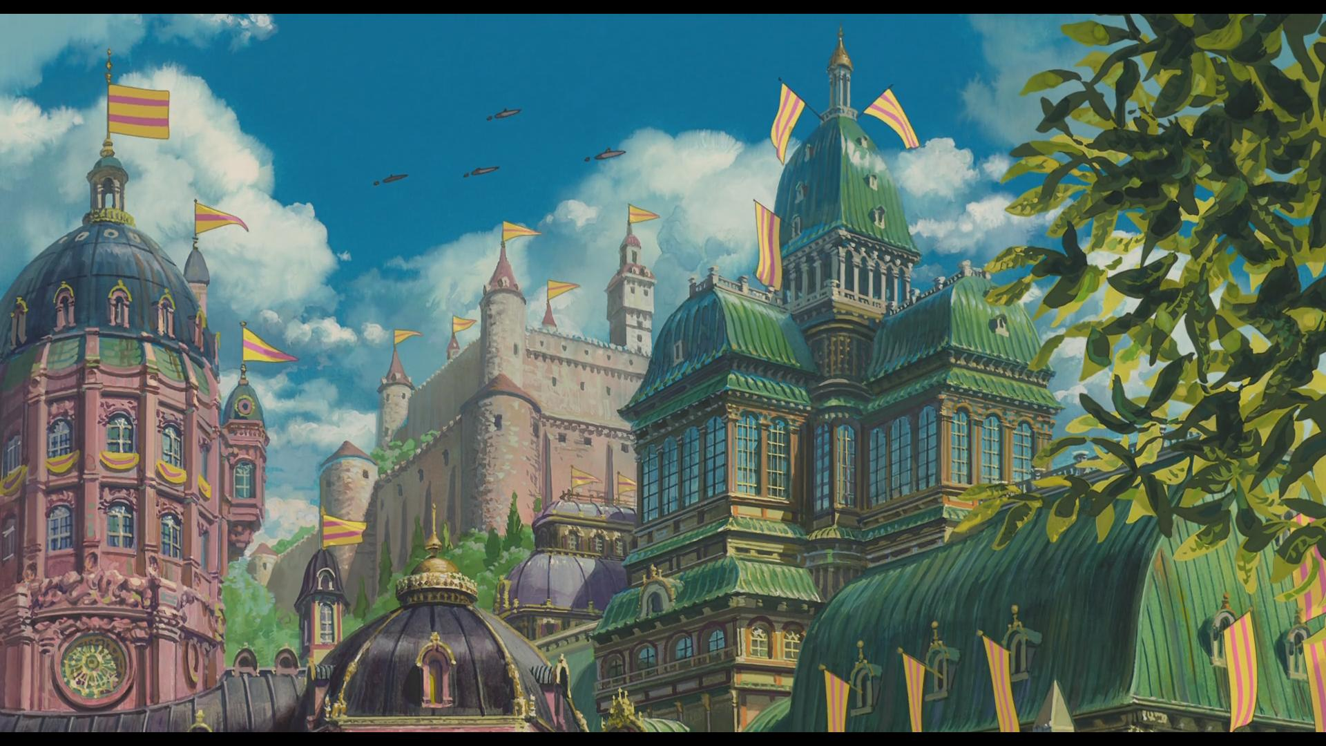Howls Moving Castle Architecture 1920x1080 Download Hd Wallpaper Wallpapertip
