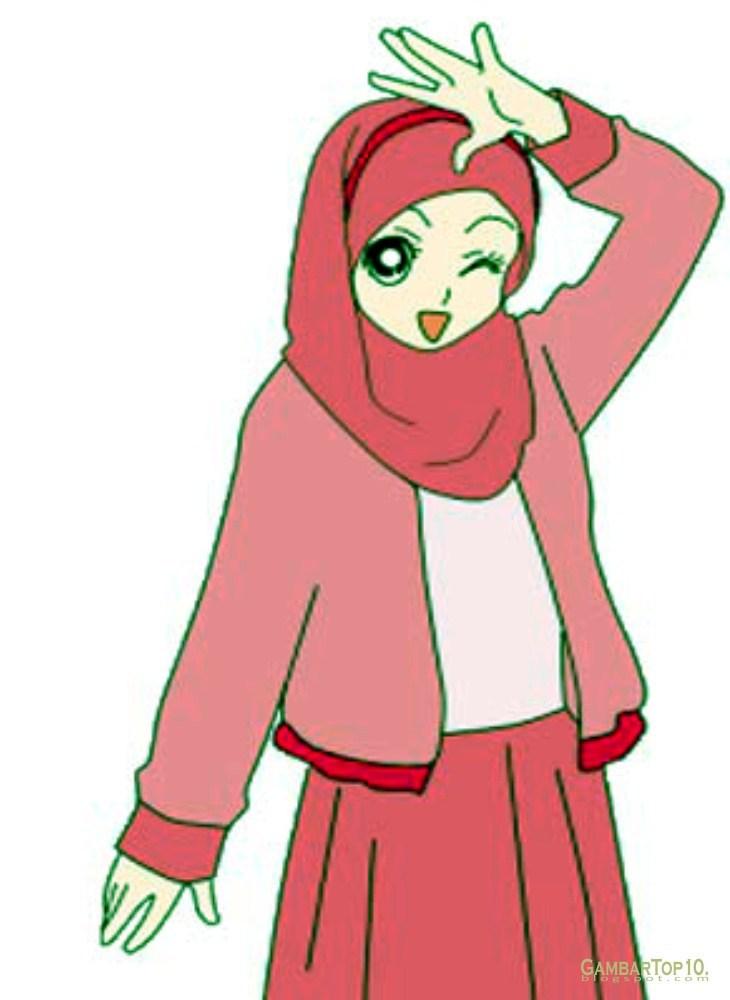 Lucu Kartun Muslimah 730x1000 Download Hd Wallpaper Wallpapertip