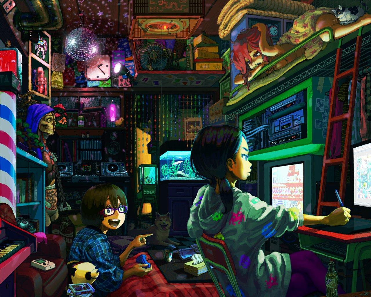 80 806169 anime gamer girl wallpaper hd anime girl pc