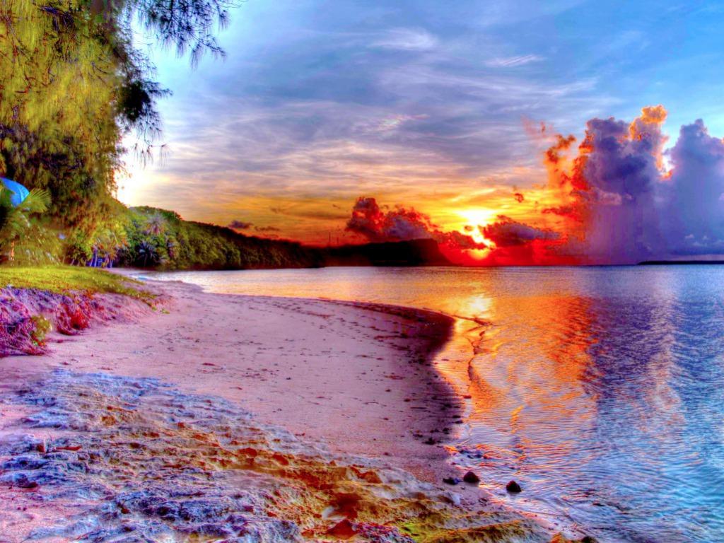 Beautiful Beach Sunset Wallpaper Beach Wallpaper Beautiful Sunset 1024x768 Download Hd Wallpaper Wallpapertip
