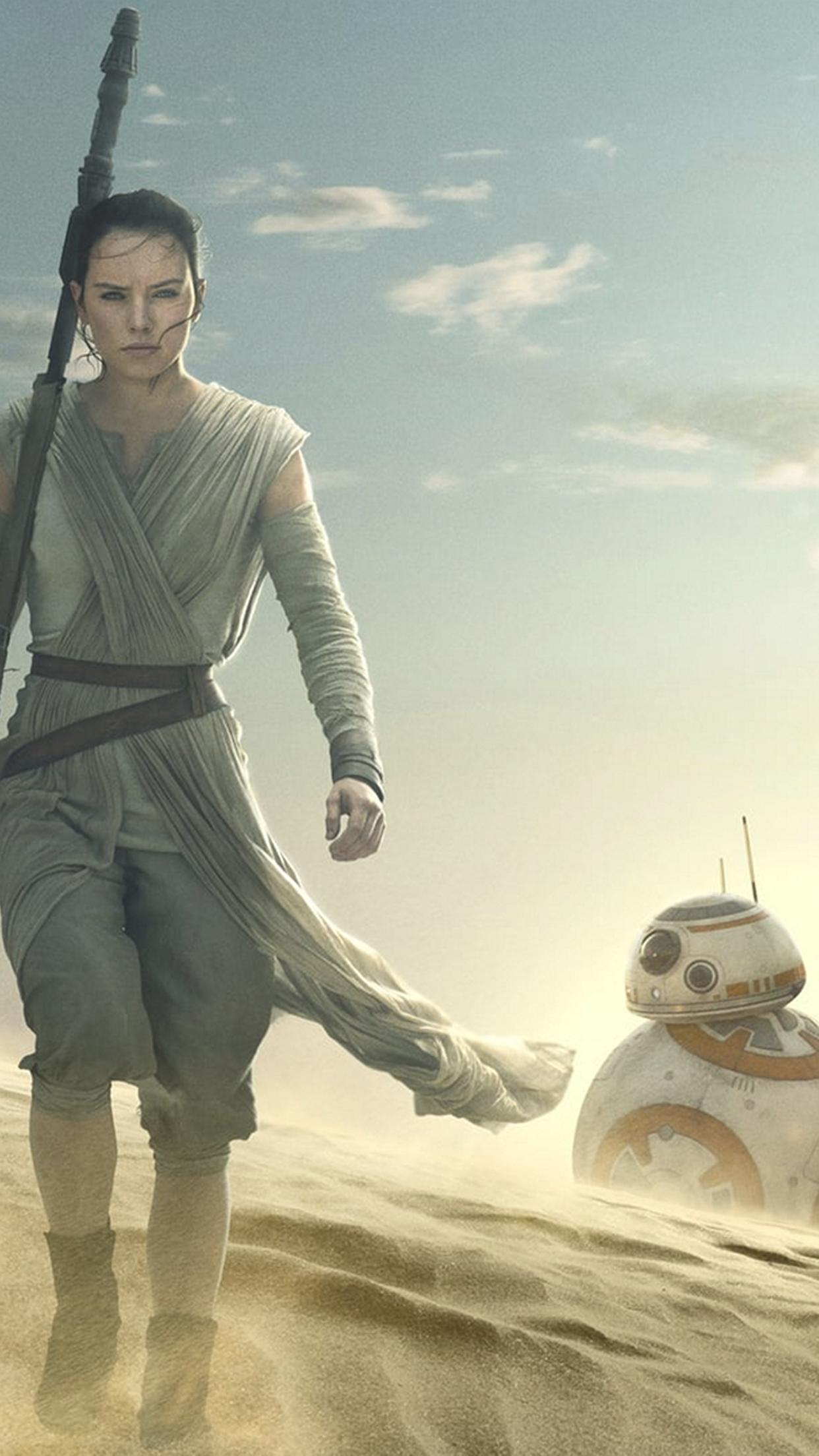 Star Wars The Force Awakens Rey Wallpaper Ideviceart Star Wars Rey Hintergrund 1242x2208 Download Hd Wallpaper Wallpapertip