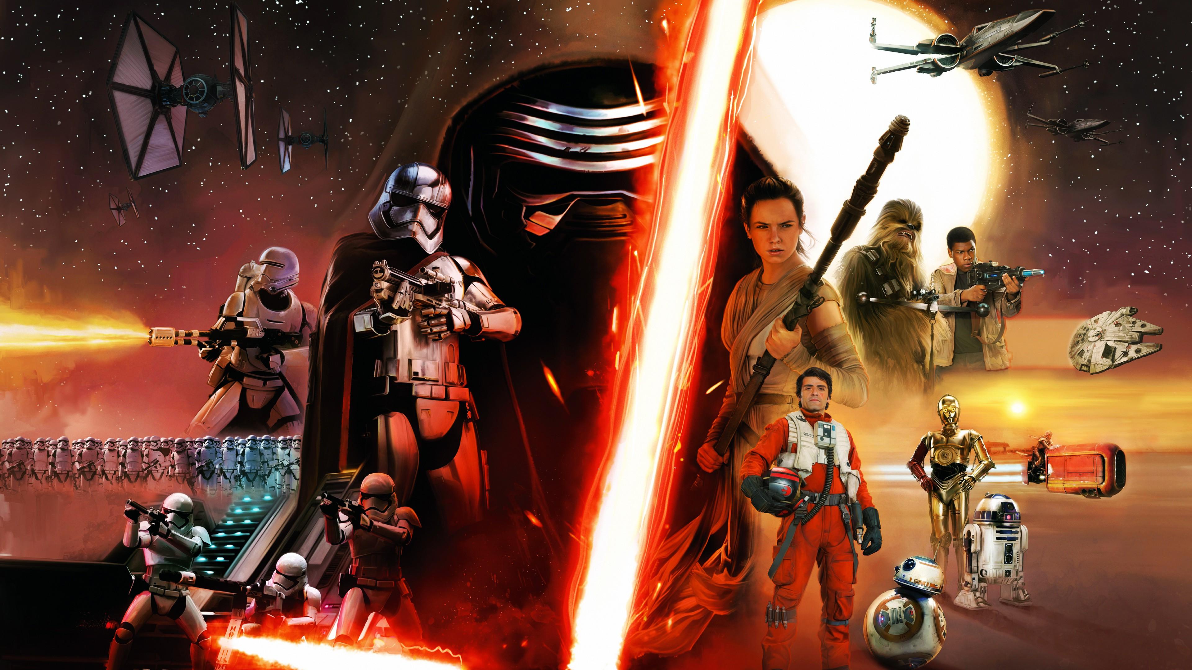 Star Wars Episode Vii The Force Awakens Hd 3840x2160 Download Hd Wallpaper Wallpapertip
