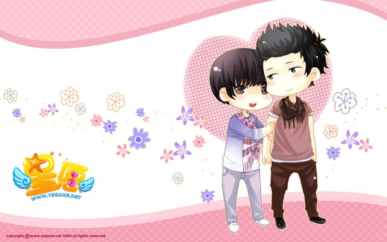 82 828668 wallpaper kartun korea romantis