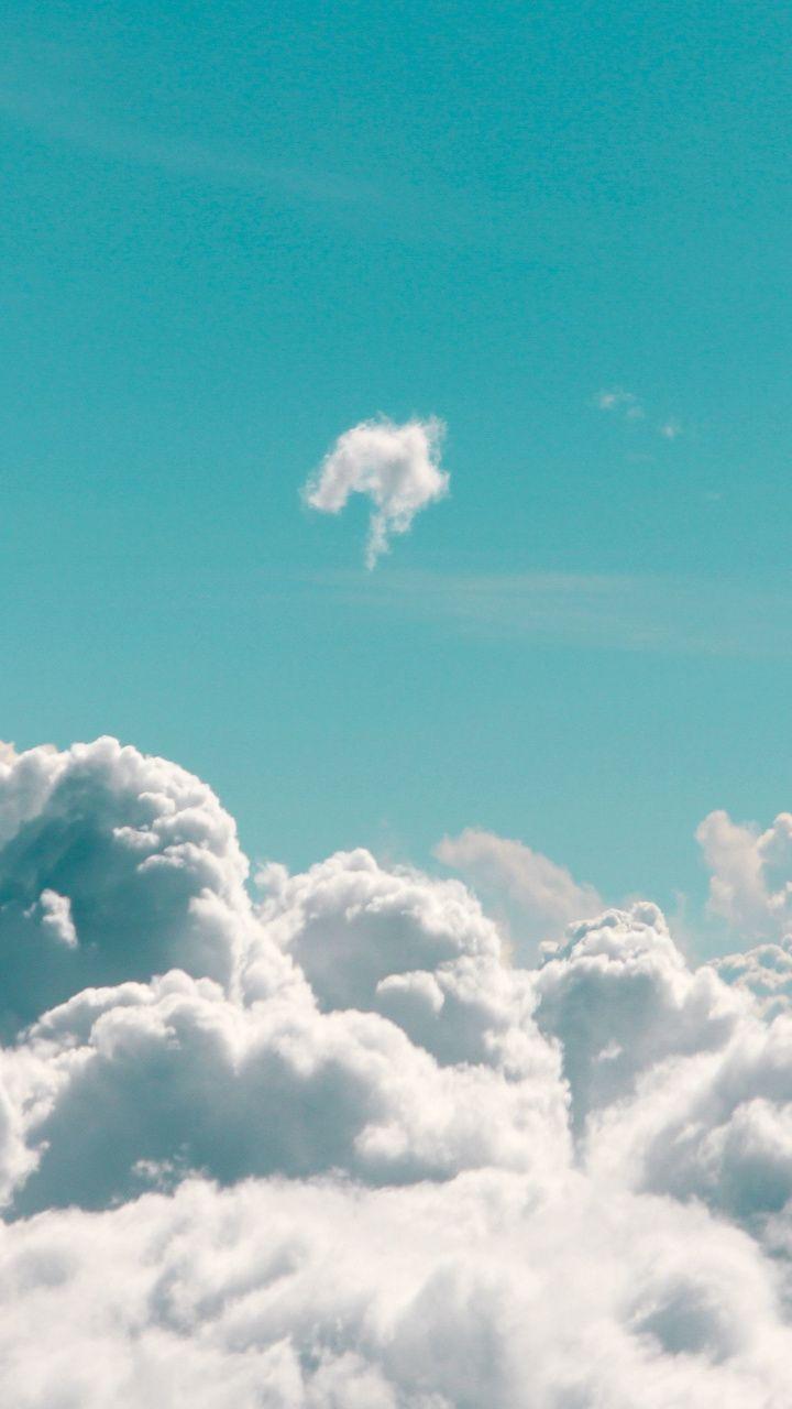 美的な青い雲の背景 7x1280 Hdの壁紙の引用 7x1280 Wallpapertip