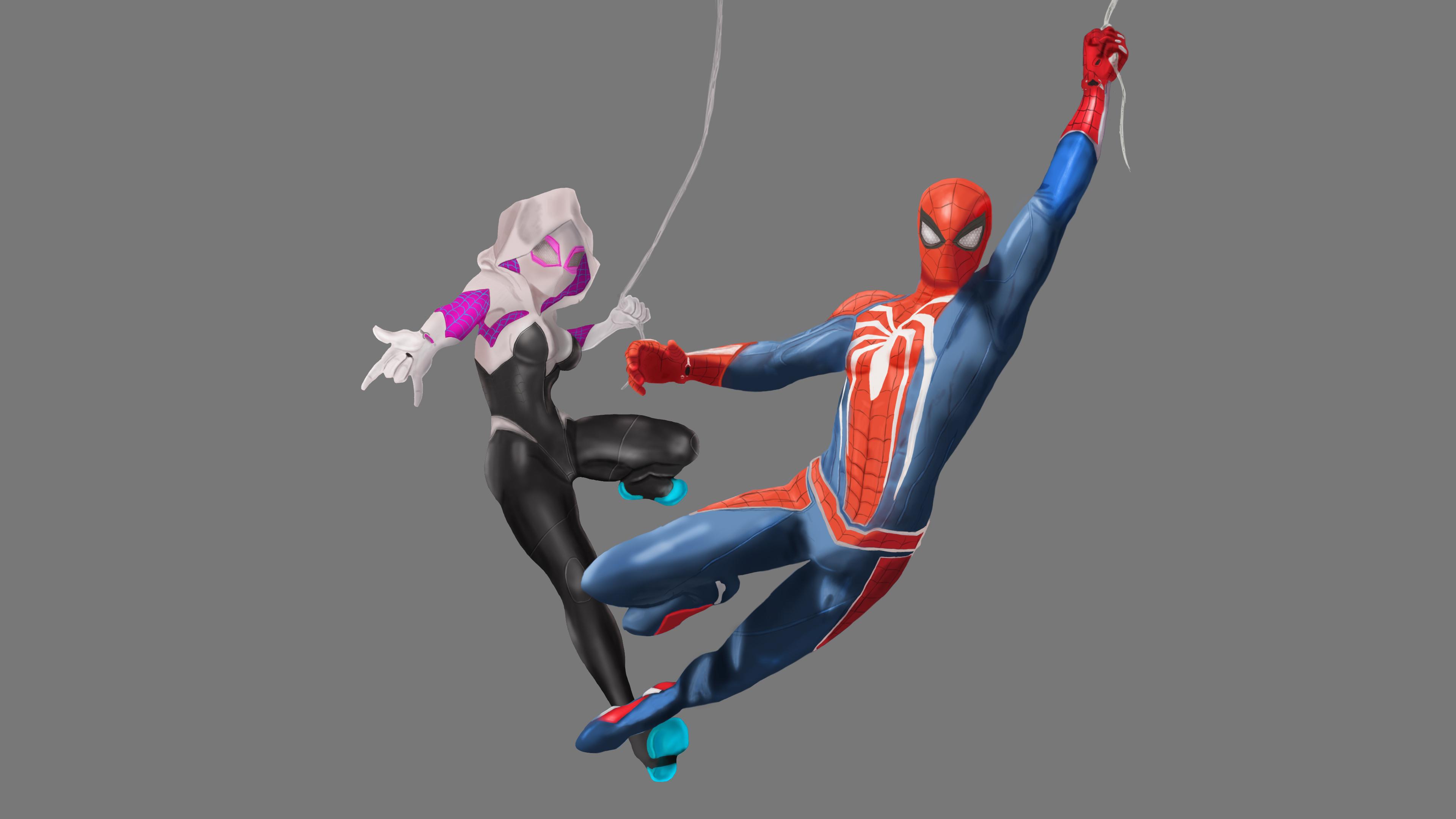 Spiderman Y Spider Gwen 3840x2160 Download Hd Wallpaper Wallpapertip