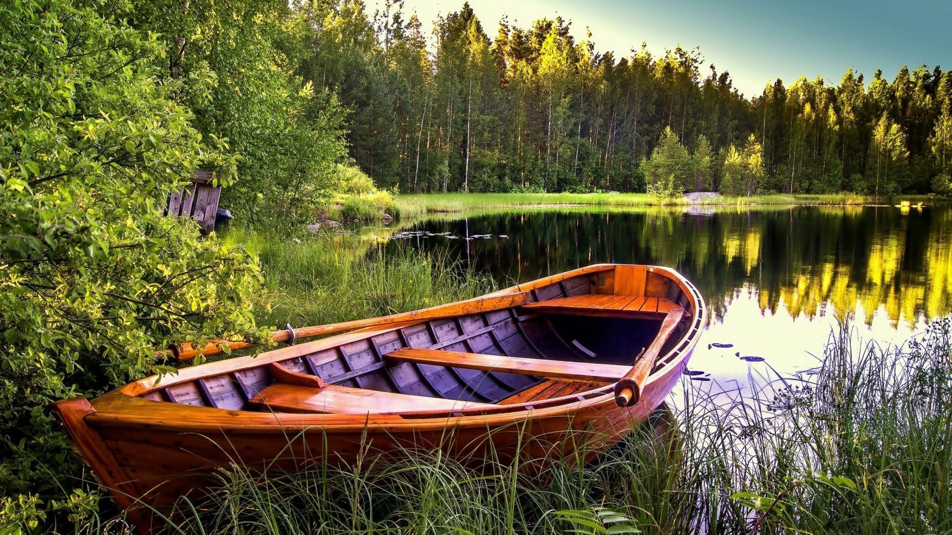 Lac De Montagne Gratuit Hd Fond D Ecran Bateau Hd 1920x1080 Wallpapertip