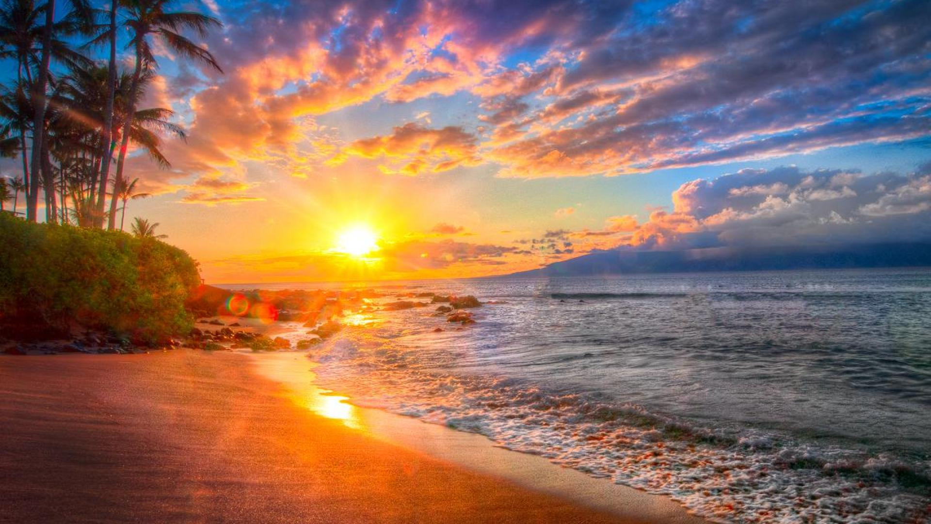Most Beautiful Beach Sunset 1920x1080 Download Hd Wallpaper Wallpapertip,Black And White Wallpaper Aesthetic Collage