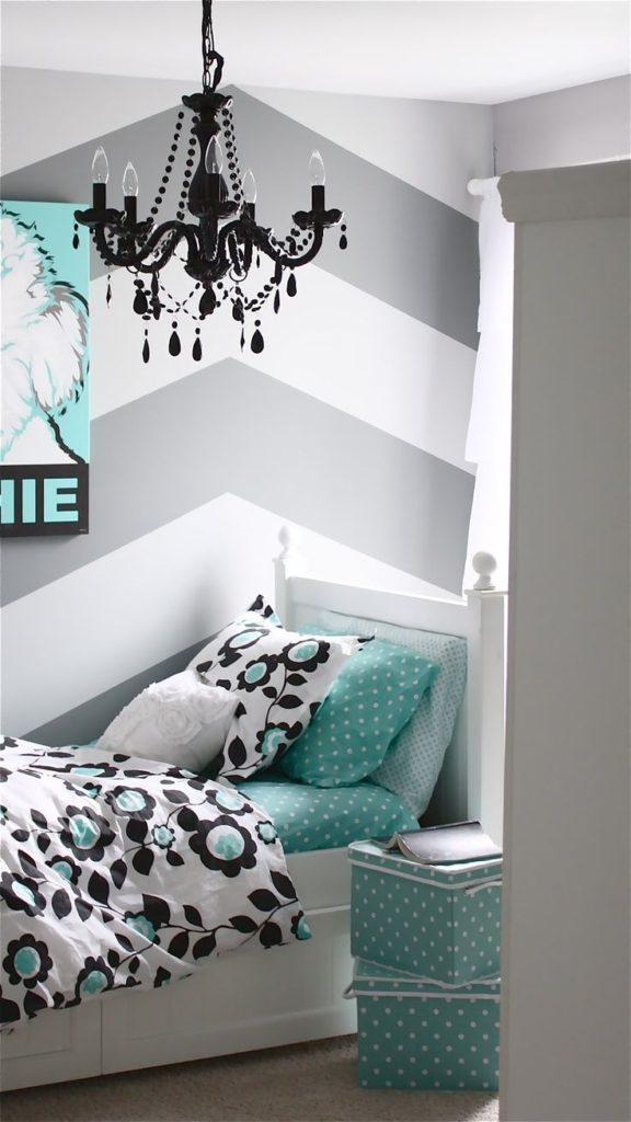 The Best Cute Chevron Wallpaper Girl Bedroom Home Decorating Teen Bedroom Accent Wall 576x1024 Download Hd Wallpaper Wallpapertip