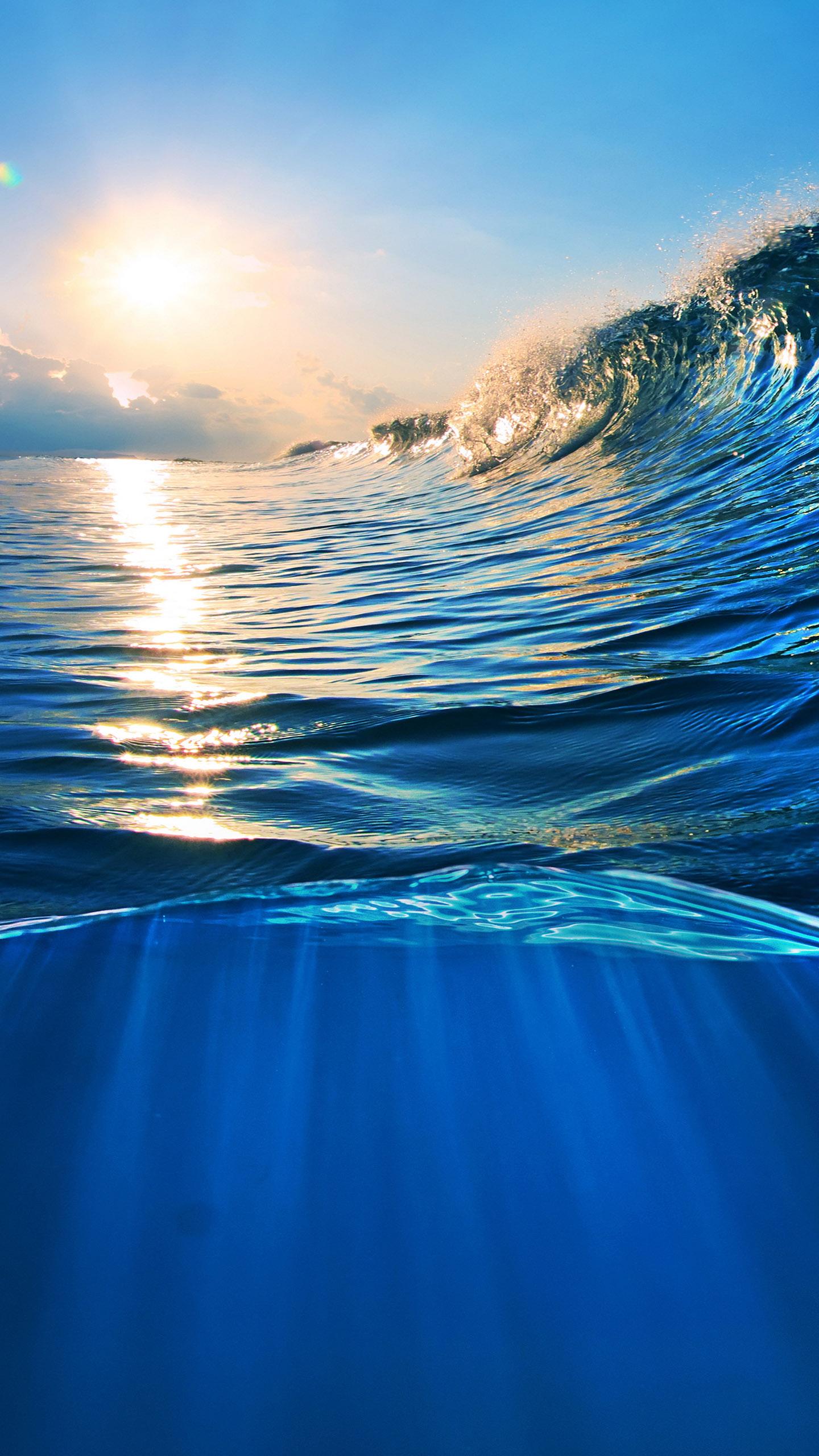 Ocean Wave Wallpapers For Galaxy S7 Blue Ocean Wallpaper 4k 1440x2560 Download Hd Wallpaper Wallpapertip