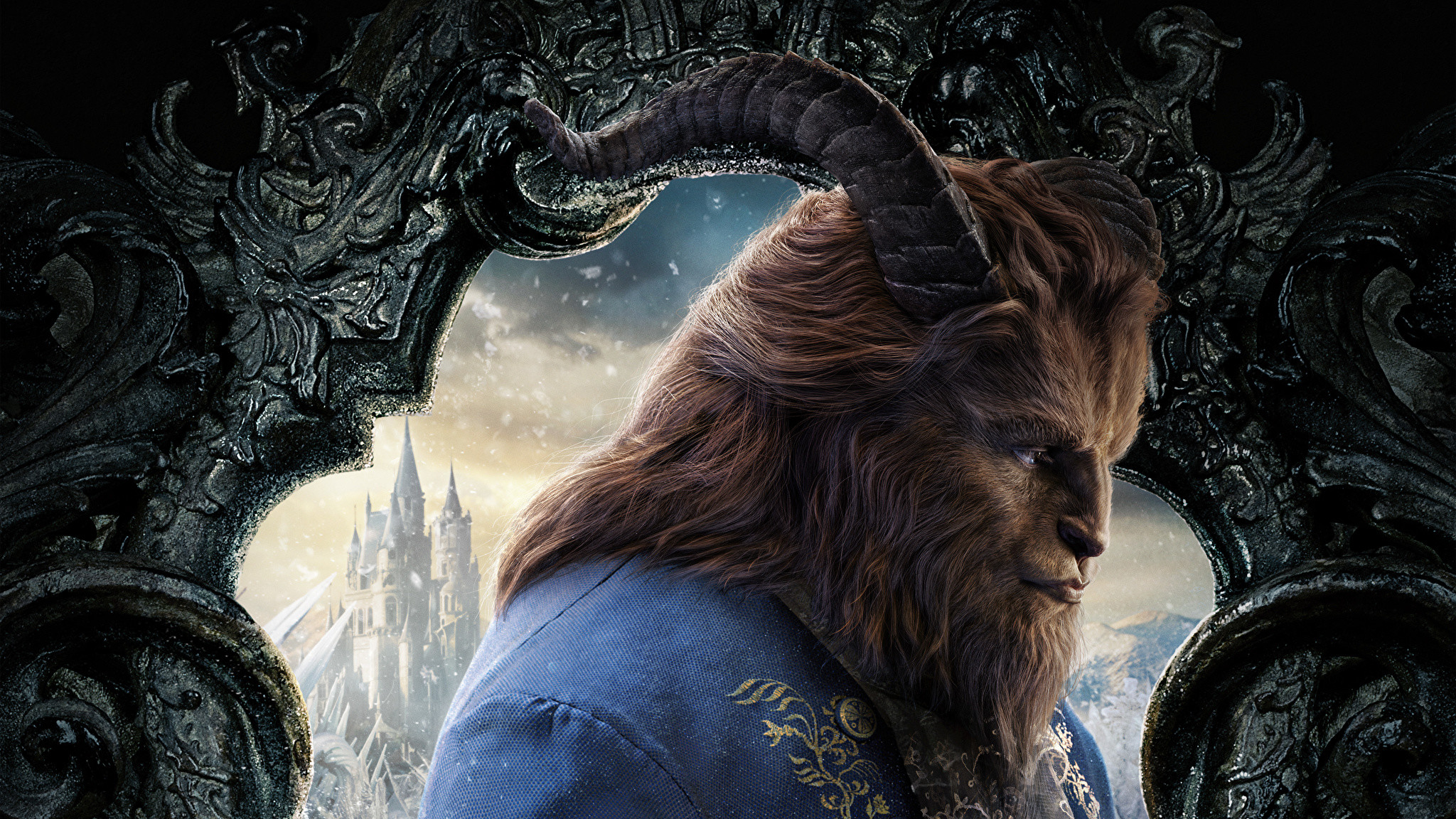 Images Beauty And The Beast 2017 Monsters Horns Movies 2048x1152 Download Hd Wallpaper Wallpapertip