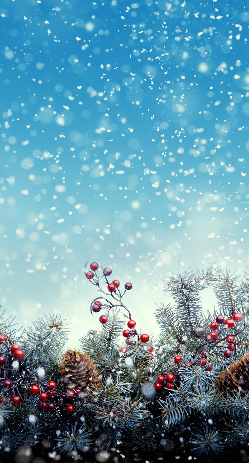 9 93471 christmas lights snow wallpaper iphone