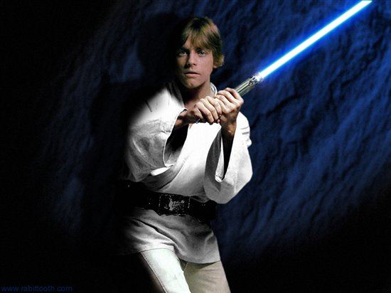 Luke Skywalker With Blue Lightsaber 550x412 Download Hd Wallpaper Wallpapertip