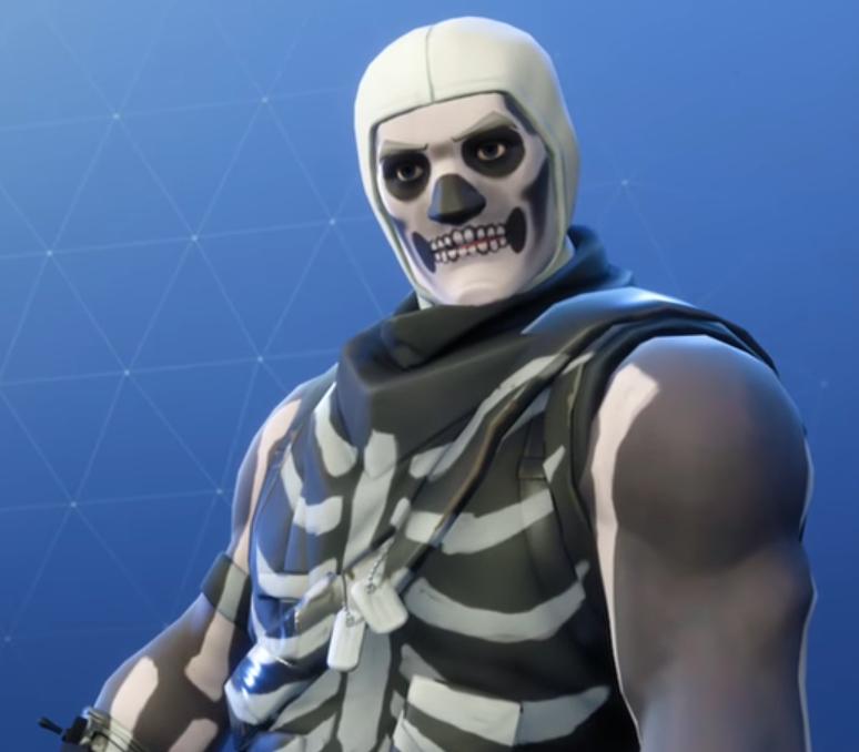 Skull Trooper Jonesy Fortnite Black Man Default Skin Fortnite 774x678 Download Hd Wallpaper Wallpapertip