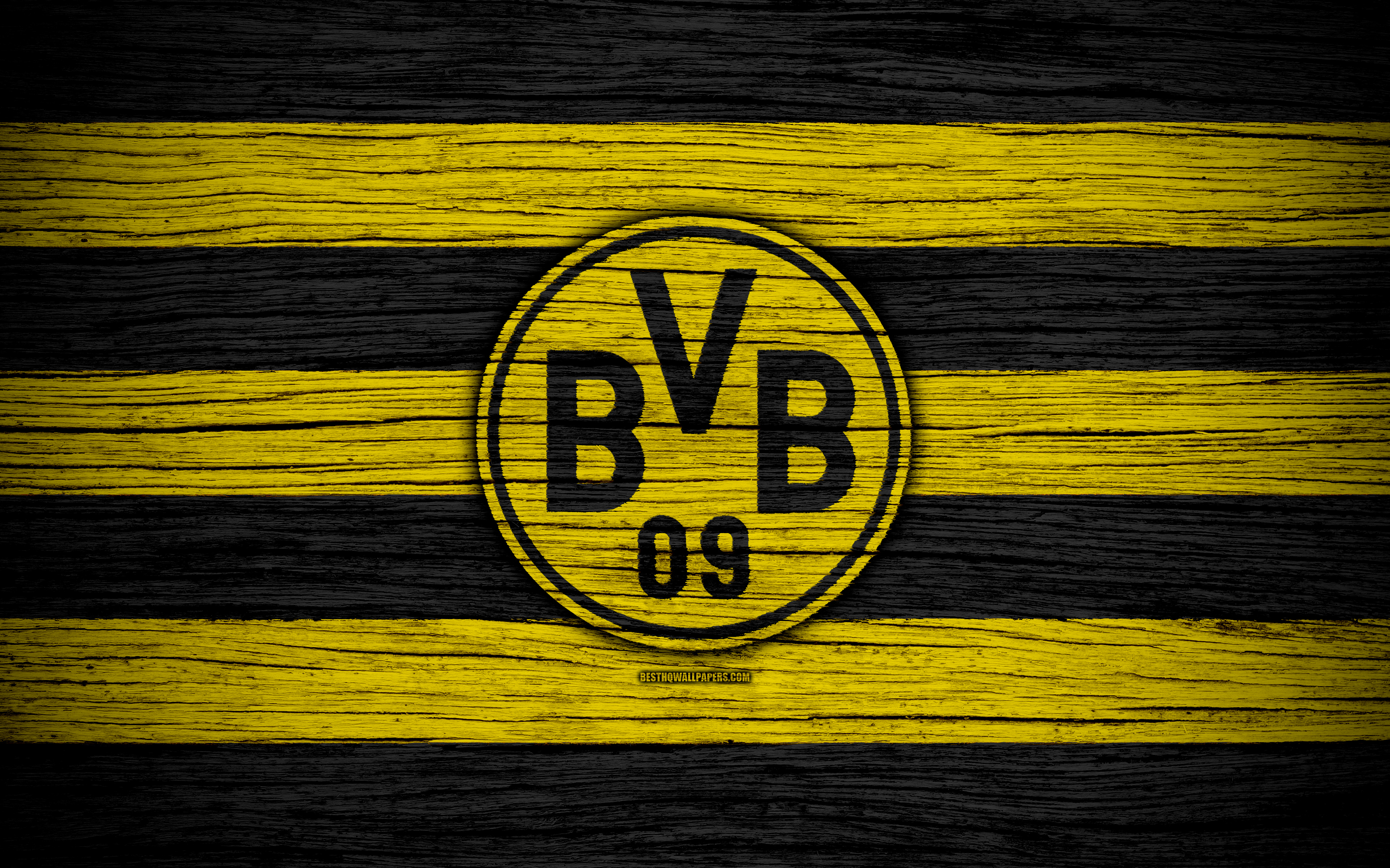 Borussia Dortmund 4k Bundesliga Bvb Logo Germany 3840x2400 Download Hd Wallpaper Wallpapertip