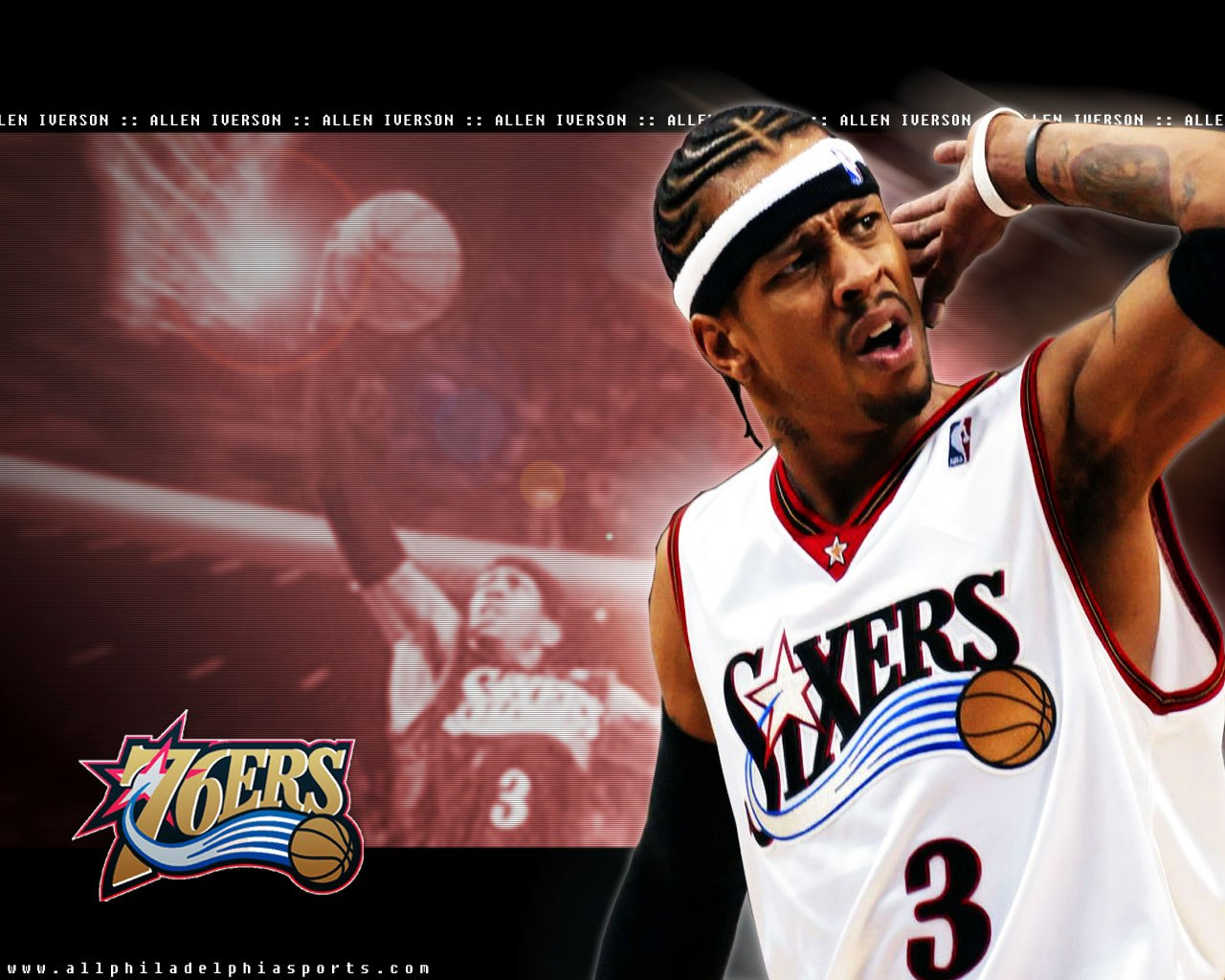 Allen Iverson Wallpaper Allen Iverson Philadelphia 76ers 1280x1024 Download Hd Wallpaper Wallpapertip