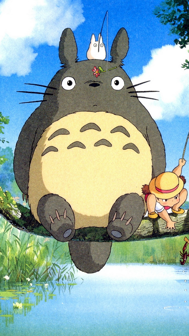Ghibli My Neighbor Totoro Anime Iphone 6 Wallpaper My Neighbor Totoro Iphone 736x1309 Download Hd Wallpaper Wallpapertip
