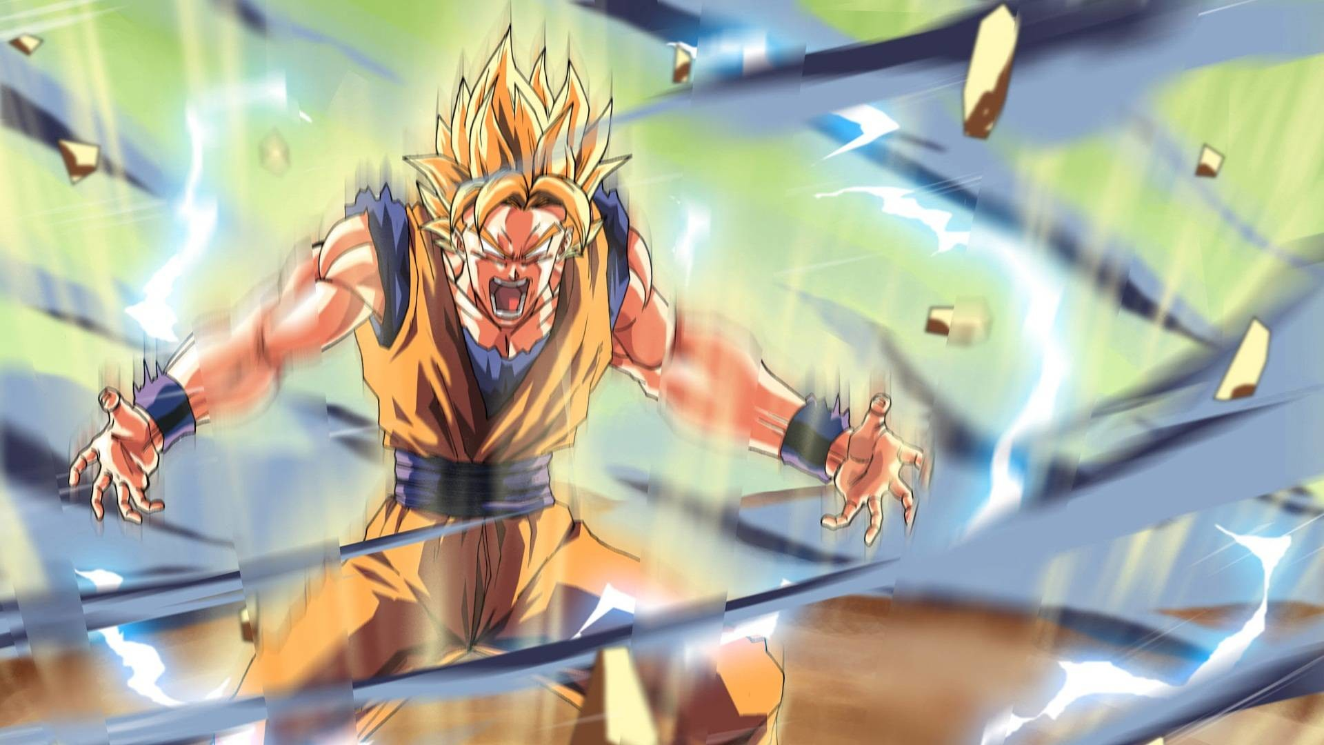 Dbz Wallpaper Goku Kamehameha Dragon Ball Z Theme Dragon Ball Z 1920x1080 Download Hd Wallpaper Wallpapertip