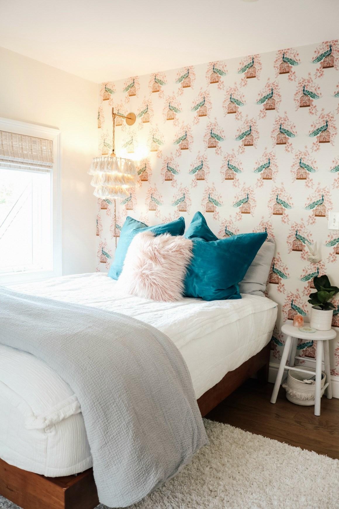 Kleines Schlafzimmer Mit Akzentwand Madchen Schlafzimmer Tapete 1160x1740 Wallpapertip