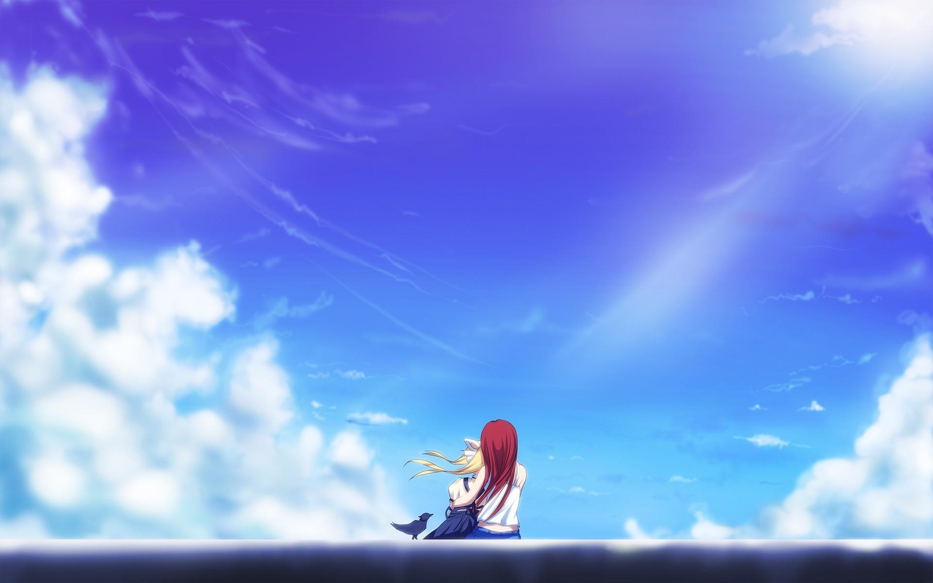 雲アニメデスクトップの背景 アニメ壁紙フルhd 19x10 Wallpapertip