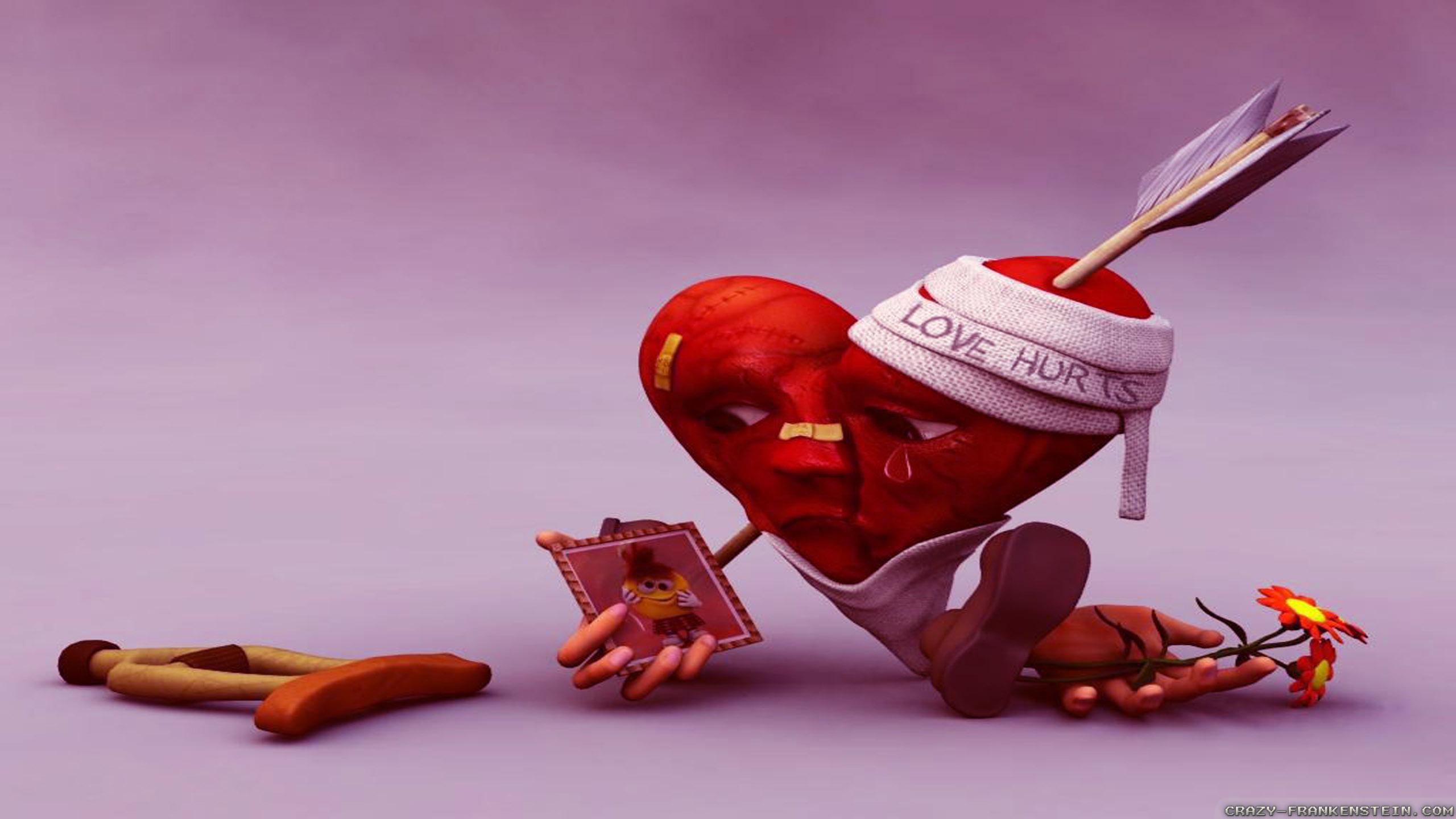 Wallpaper Love Is Pain - 2560x1440 ...