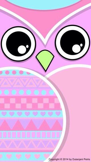 Wallpaper Pink Lucu Owl Wallpaper Cute 320x568 Download Hd Wallpaper Wallpapertip