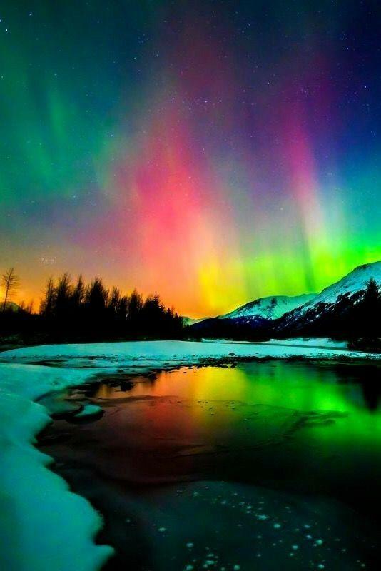 Beautiful Aurora Borealis Northern Lights - 534x800 ...