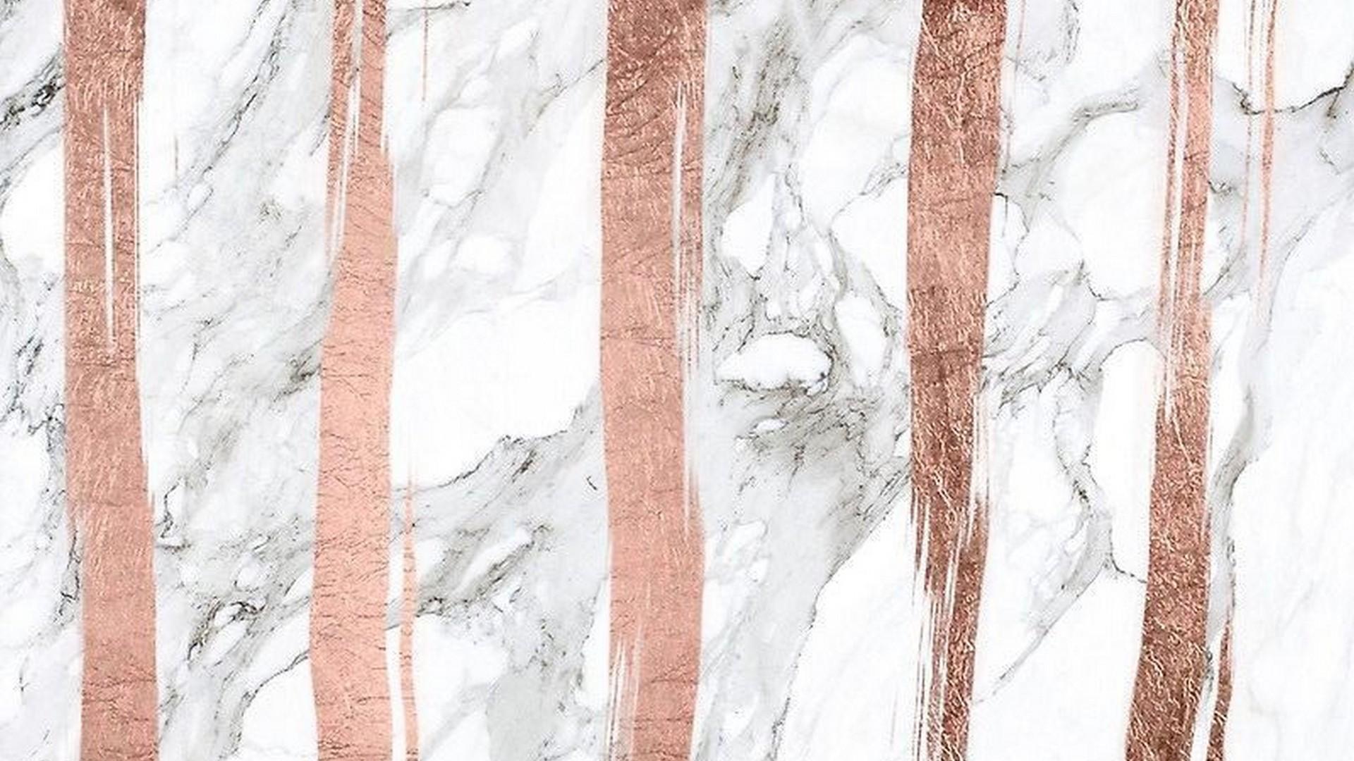 Desktop Wallpaper Rose Gold Marble ...
