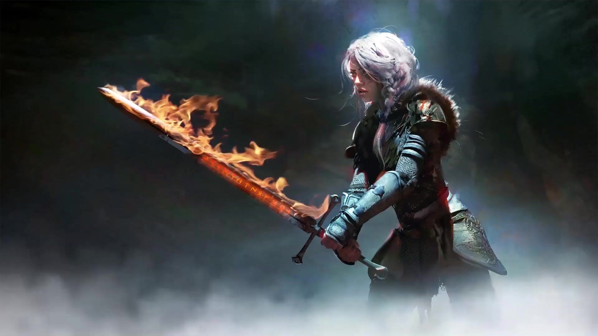 Witcher 3 Wallpaper Ciri Sword 1280x720 Download Hd Wallpaper Wallpapertip