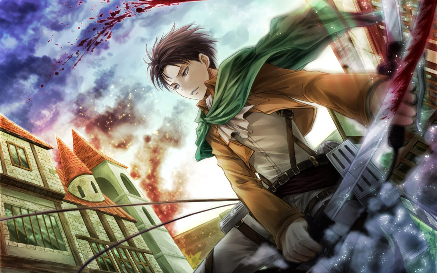 Captain Levi Wallpaper Levi Rivaille Attack On Titan Attack On Titan Levi Hd 1440x900 Download Hd Wallpaper Wallpapertip