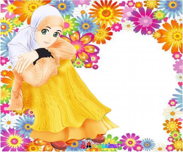 Kartun Muslimah 604x502 Download Hd Wallpaper Wallpapertip