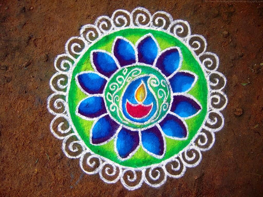 Easy Rangoli Design For Diwali 2019 1024x768 Download Hd Wallpaper Wallpapertip,Green Plain Saree With Designer Blouse Images